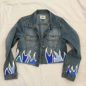 ✰ Hand painted jean jacket ✰